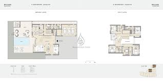 bvlgari apartments 2 bedroom type a b floor plans
