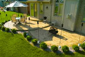 Stamped Concrete Backyard Ideas Concrete Patio Designs Ideas Pictures And 2017 Plans