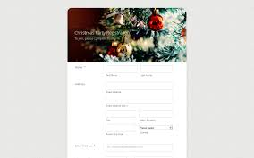christmas party form theme store