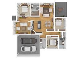 3 bedroom floor plans with garage 50 three 3 bedroom apartment house plans architecture design
