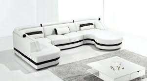Modern Sofa Chaise 2315 Modern White Leather Sectional Sofa Blue With Chaise Beige