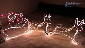 250 cm Animated Father Christmas Santa Claus and Sleigh