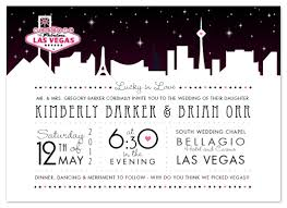 wedding invitations las vegas wedding invitations vegas skyline at minted