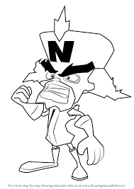 Learn How To Draw Doctor Neo Cortex From Crash Bandicoot Crash Crash Bandicoot Coloring Pages