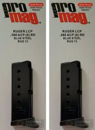 lcp extensions magazines 177879 two ruger lcp magazine 380 acp 7 blued