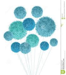 Handmade Nursery Decor by Vector Baby Boy Blue Pom Poms Bouquet Decorative Element Great
