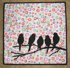 68 Best Wall Silhouettes Images by Birds Mini Quilt From Quilts By Elena Silhouette Applique Wall