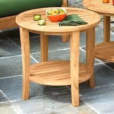 small teak coffee table teak side table teak round coffee table outdoor ipllive co