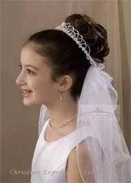 communion hair accessories communion bun wrap veils firstcommunions