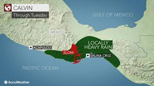 Mexico Hurricane Map by Tropical Depression Calvin To Drench Southern Mexico Into Midweek