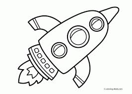 Coloriage Fusée dessin animé dessin gratuit à imprimer