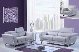 Gray Leather Sofa And Loveseat Gray Leather Sofa Set With Chrome Legs And Adjustable Headrest