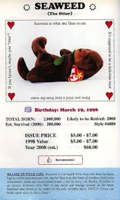 how much beanie babies were predicted to be worth vs how much