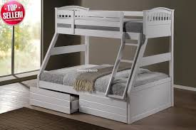 Cosmos White Three Sleeper Bunk Bed Sleepland Beds - White bunk beds uk