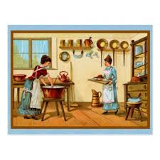 Cooks In The Kitchen by Smiling Bubble Oven Cooking Baking Recipe Cards Postcard