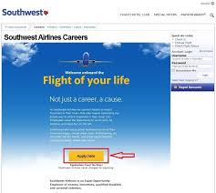 how to apply for southwest airlines jobs online at southwest com