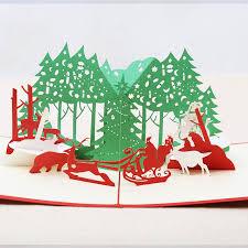 aliexpress com buy christmas party 3d laser cut pop up paper