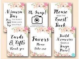 bridal shower sign in book boho floral bridal shower signs and magical printable