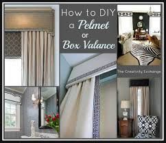 how to diy a pelmet or box valance box valance valance and