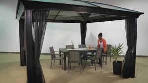 hardtop patio gazebo sedona hard top sun shelters with mosquito netting option u0026raquo