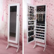 Free Standing Full Length Mirror Jewelry Armoire Innovative Large Jewelry Armoire With Mirror Armoire Outstanding