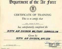 military training certificate japan
