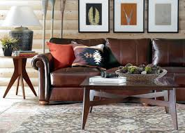 Ethan Allen Sleeper Sofas by Round Chair Pillows Ethan Allen Brown Leather Sofa Loose Back And