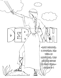 free coloring page deborah of the bible judge of israel