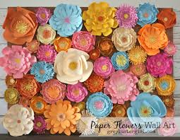decorating walls using paper flowers
