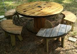 outdoor tables made out of wooden wire spools wire spool table with benches wire spool tables wire spool and