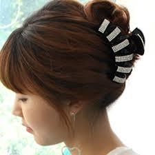 hair claw korean hot fashion large acrylic rhinestone hair claw