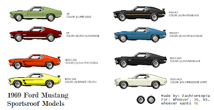 mustang all models 1969 ford mustang sportsroof models by abramsgavin on deviantart
