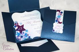 Sweet 16 Invitations Cards Star Filled Quinceanera Or Sweet 16 Invitations