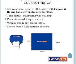 Custom Table Cloths by Trade Show Display Custom Table Covers Bannerbuzz