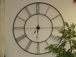 hall attractive oversized wall clocks for modern middle room
