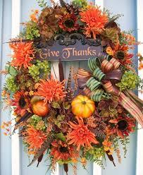 51 amazing door wreath design ideas for thanksgiving