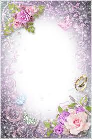 transparent flowers wedding frame gallery yopriceville high