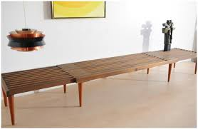 murphy table and benches grandaddy of expanding slat tables the mid century modernist