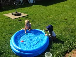 Backyard Inflatable Pool by Bybmg Summer Bucket List Link Up Backyard Pool Time