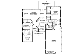 Craftsman Ranch Floor Plans House Plans 3 Car Garage Side