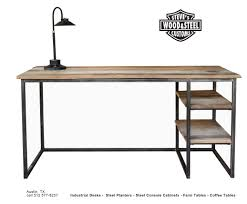 Industrial Writing Desk by Buy A Custom Made Industrial Reclaimed Wood Desk Made To Order