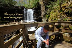 psalm 61 verse 1 u2013 young christian praying at waterfalls free