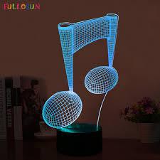 interesting lighting interesting 3d led visual table l led music notes pattern night