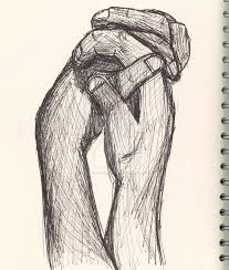 holding hands sketch face and figure by hollyvampasaurous on