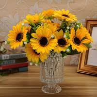silk sunflowers wholesale silk sunflower heads buy cheap silk sunflower heads