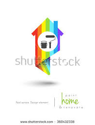 house design tools house map pin design painting tools stock vector 360432338