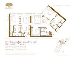 two bedroom plus den penthouse floor plans the mandarin oriental