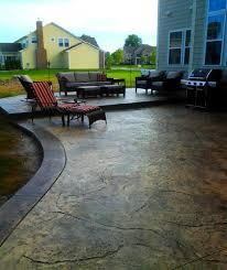 Textured Concrete Patio by Columbus Ohio U0027s Leader In Stamped Concrete Patios Driveways Sidewalks