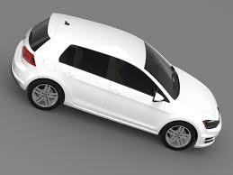opel volkswagen volkswagen golf tsi 5d 2015 3d cgtrader