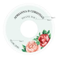 personalized wedding plate tea personalized wedding cd labels 6 pcs musical theme